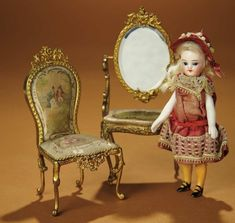 Bread and Roses - Auction - July 26, 2016: 333 German All-Bisque Mignonette with Painted Orange Stockings