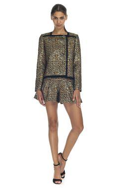 Peter Som Cheetah Lurex Jacquard Jacket at Moda Operandi