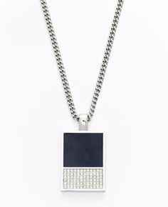 Colorblock Enamel Pendant Necklace