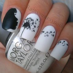Black and white #Nails #NailArt www.finditforweddings.com