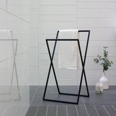 Small Space Interior Design, Luxury Towels, Towel Rail, Bathroom Styling, Beautiful Interiors, House Rooms, Bathroom Interior, Wardrobe Rack, Home Furniture