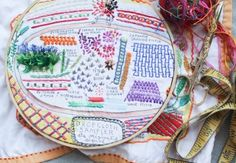 Advanced Embroidery Sampler by Rebecca Ringquist - Creativebug