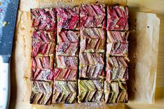 *MADE* | Almond Rhubarb Picnic Bars - Smitten Kitchen