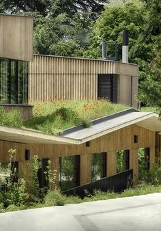 Green roof top School complex in Rillieux-la-Pape / Tectoniques Architects