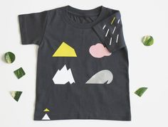 SALE : Minimum Shapes Organic tee/ 2T or  3T by spoonchogre