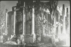 Rear view of Belle Grove plantation | Belle Grove - After the Fire