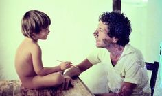 Leonard Cohen with son, Adam