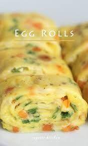 Kaas-ui Opgerolde Omelette (korean Eggroll) recept | Smulweb.nl