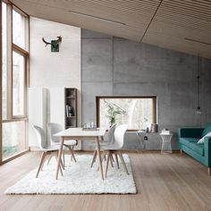 BoConcept offers modern storage solutions to suit your living room and home. Discover wall design systems, bookcases, drawers and more. White Dining Table, Extendable Dining Table, Dining Table Chairs, Grande Table A Manger, Modern Family Rooms, Farmhouse Style Kitchen, Sofa, Dining Room Design, Modern Chairs