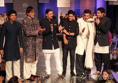 Bollywood's hot men Ranbir Kapoor, Farhan Akhtar, Amitabh Bachchan, Akshay Kumar and Sidharth Malhotra walked the ramp for Manish Malhotra's fashion show - 'Men for Mijwan'