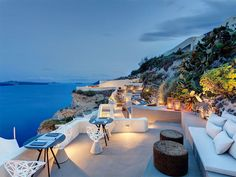 Book your escape at Mystique, a Luxury Collection Hotel, Santorini. Our exclusive Santorini hotel offers luxury accommodations & unmatched experiences. Santorini Hotels, Santorini Island, Santorini Greece, Mykonos, Honeymoon Hotels, Best Honeymoon, Honeymoon Ideas, Luxury Bar, Luxury Travel