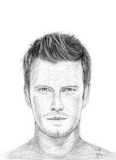 Drawing portrait David Beckham by carlosirigoyen.deviantart.com on @deviantART