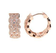 Rose Gold Huggie Earring   $45