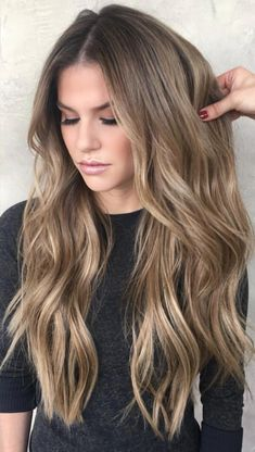 Dark Blonde Hair Color Ideas - Hair Colour Style Dark Blonde Hair Color Ideas, We all have our favorite blonde! Today we are going to examine dark blonde hair color ideas together our top favorite long blonde hair ideas to inspir. Dark Blonde Hair Color, Cool Hair Color, Balayage Hair Dark Blonde, Light Brunette Hair, Long Blond Hair, Blonde Hair For Brunettes, Bronde Balayage, Dark Hair To Blonde, Carmel Balayage