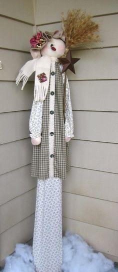 Tall-n-Skinny Snow Lady e pattern | Etsy Christmas Yard Art, Christmas Sewing, Christmas Snowman, Christmas Projects, All Things Christmas, Christmas Decorations, Christmas Ideas, Xmas, Holiday Wreaths