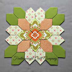 #61 option 3  Lucy Boston Patchwork of the Crosses  kit by FeatherweightQuiltCo                                                                                                                                                     More