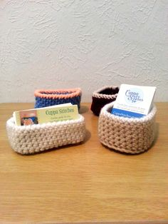 Crochet business card holder free crochet pattern chaleur life business card holder crochet box craft fair supply business card display desk reheart Choice Image