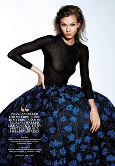 Karlie Kloss in Dior for Sunday Times style