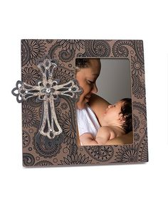 Love this Jewel Paisley Cross Frame on #zulily! #zulilyfinds
