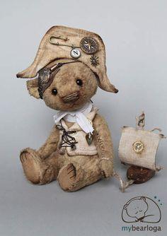 Steampunk bear Nelson by MYBEARLOGA