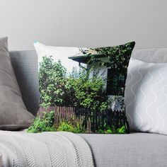 'old town' Throw Pillow by godolilla Designer Throw Pillows, Transparent Stickers, Pillow Design, Sell Your Art, Old Town, My Design, Old City