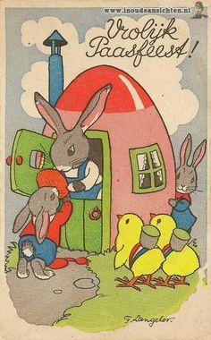 Freddie Langeler...Antique Easter postcard.
