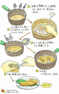 Food Painting, Food Illustrations, Dessert Recipes, Desserts, Japanese Food, Bento, Asian Recipes, Love Food, Picnic