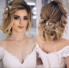 Low Chignon is really a smooth bridal hair messy bun which appears incredibly lovely on bridesmaid t Best Wedding Hairstyles, Bride Hairstyles, Messy Hairstyles, Hairstyles Videos, Wedding Hair Clips, Wedding Hair And Makeup, Bridal Hairdo, Bridal Chignon, Low Chignon