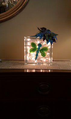 Hand Painted Dragonfly Night Light by MaeandMeDesigns on Etsy,