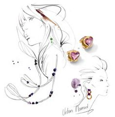 Romantic Urban Nomad Jewelry Inspiration Swarovski Elements Fashion and Color Trends