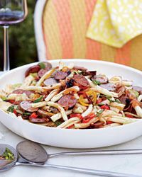 Pasta Salad with Grilled Sausages and Peppers Recipe