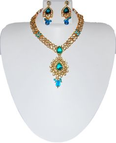 Checkout our #awesome product Indian Tradtional Kundan Imitation Necklace Set / AZINKJ204-GBL - Indian Tradtional Kundan Imitation Necklace Set / AZINKJ204-GBL - Price: $65.00. Buy now at http://www.arrascreations.com/indian-tradtional-kundan-imitation-necklace-set-azinkj204-gbl.html