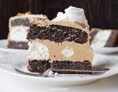 Traditional Polish Poppy Seed Layer Cake w/ Meringue and Mocha Frosting Sweet Recipes, Cake Recipes, Snack Recipes, Dessert Recipes, Food Cakes, Cupcake Cakes, Healthy Fruit Cake, Just Desserts, Delicious Desserts