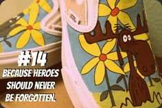 Reason #14 to buy custom to order, hand painted 1 of Two shoes. #rockyandbullwinkle #fanart #vans
