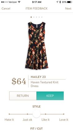 Hailey 23 Haven Textured Knit Dress.  All the nice Fall colors