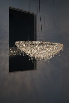 Iceberg crystal chandelier #Manooi #Chandelier #CrystalChandelier #Design #Lighting #Iceberg
