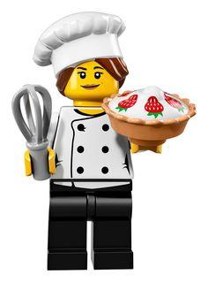 LEGO 6 NEW CHIEF COOK MINIFIGURES GIRLS GUYS FOOD KITCHEN RESTAURANT FIGURES