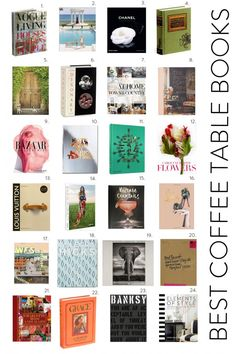 Coffee Table Books: Once we are ready to style we will want to select a few gorgeous coffee table books for your tables and book case.