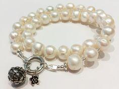 Wickelarmbänder - Perla-Armband ♛ Sterling Silber-Zuchtperlen - ein Designerstück von -nicita- bei DaWanda Designer, Etsy, Bracelets, Jewelry, Fashion, Wristlets, Silver, Moda, Jewlery