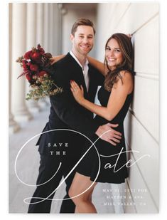 Modern Script With Classic Details. Classic And Formal, White Save The Dates From Minted By Independent Artist Carolyn MacLaren. Save The Date Magnets, Save The Date Postcards, Save The Date Cards, Sheath Wedding Gown, Wedding Gowns, Dream Wedding, Wedding Day, Wedding Wishes, Spring Wedding