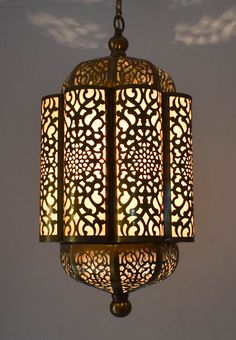Egyptian Cut Out Brass Hanging Lantern Lights Moroccan Table Lamp, Moroccan Lighting, Unique Lighting, Table Lighting, Lighting Ideas, Moroccan Hanging Lanterns, Hanging Lantern Lights, Lantern Lamp, Brass Lamp