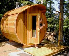 Barrel Sauna Kits | red cedar barrel sauna 8 diameter two tier 4 bench barrel sauna in ...