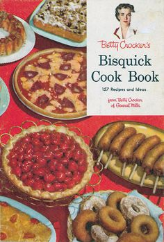 Vintage 1950s Cookbook Betty Crocker BISQUICK Mid Century