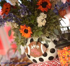"""From Southern Living: """"Any tailgate with a centerpiece like this has got to be the South's Best tailgate!"""""""