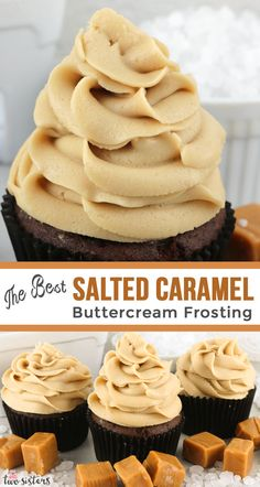 The Best Salted Caramel Buttercream Frosting Sweet, salty and delicious. This yummy homemade The Best Salted Caramel Buttercream Frosting is always a crowd-pleaser and is easier to make then you might think! Caramel Buttercream Frosting, Salted Caramel Frosting, Carmel Frosting Recipe, Salted Caramel Desserts, Chocolate Caramel Cake, Food Cakes, Cupcake Cakes, Cupcake Icing Recipe, Frosting For Chocolate Cupcakes
