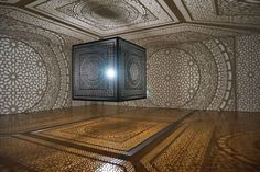 Intersections installation by Anila Quayyum Agha, Grand Rapids – Michigan