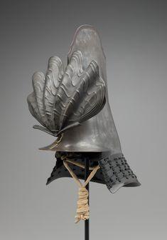 Samurai Helmet (Namazu-o Kawari Kabuto), century Samurai Helmet, Samurai Armor, Arm Armor, Japanese Design, Japanese Art, Katana, Chara, Martial, Art Japonais