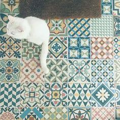 These rather gorgeous Moroccan-style tiles are perfect for eye-catching walls and floors. They're far less than the high street and much finer quality! Bathroom Under Stairs, Hall Flooring, Bathroom Styling, Bathroom Inspo, Entrance Ways, Front Steps, House Tiles, Flat Ideas, Style Tile