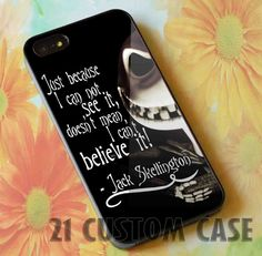 The Nightmare Before Christmas Quotes Jack by TwentyOneCase, $14.00