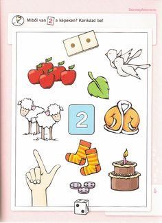 DIFER Fejlesztő füzetek Számolás Picture Composition, Cicely Mary Barker, Preschool Math, Math Worksheets, Speech Therapy, Montessori, Crafts For Kids, Teaching, Children
